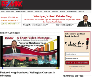 Top 6 stories on Winnipegs Real Estate Blog in October 2012 Latest Posts Time-Sensitive  Condos Electrical Foundation Real Estate Market Winnipeg