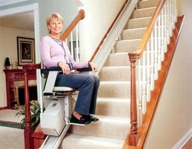 Stair lifts are one way to get around inaccessibility issues within your home