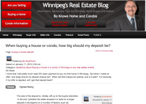 Real Estate Questions and Answers on Winnipeg's Real Estate Blog Latest Posts  Buying a House Condos Mortgage Lending Real Estate Market Winnipeg