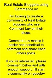 Real Estate blogging and comment-luv system Latest Posts
