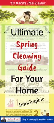 Spring Cleaning & Declutter Infographic for your house or condo spring cleaning