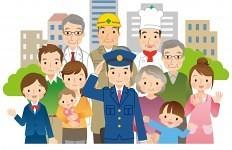 警察官と地域の人々