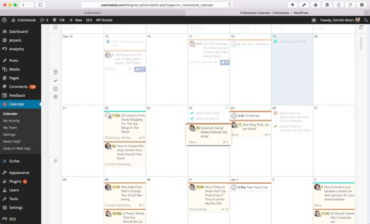 Co-Schedule: Excellent tool for business bloggers