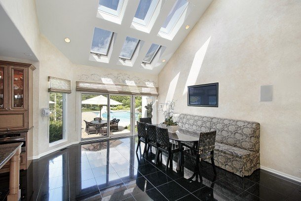Beautiful Skylights add warmth, value and light to any room