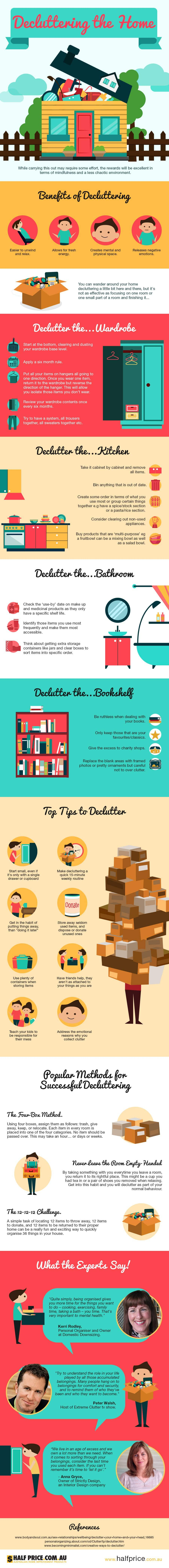 28 Awesome Tips on How To Declutter your Home (Infographic) Home Improvements Infographics Latest Posts  Condos Home Improvements Infographic Winnipeg