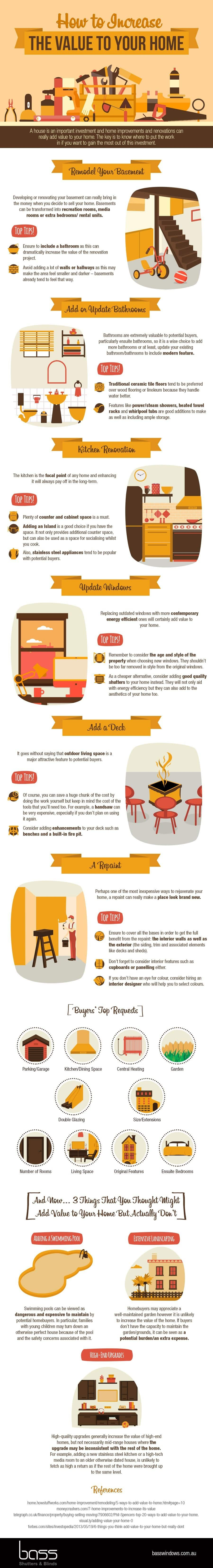 How To Increase Value Of Your Home - Awesome Infographic Home Improvements Latest Posts