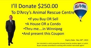 10 ways to support D'Arcy's Animal Rescue Centre in Winnipeg Latest Posts Winnipeg News & Events  Condos Electrical Selling a House Winnipeg