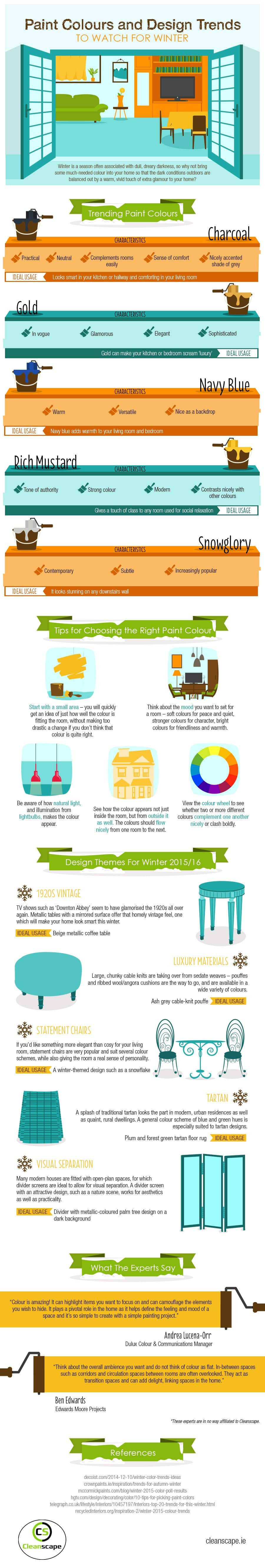 Paint Colours and Design Trends for Winter (Infographic) Infographics interior decorating Latest Posts
