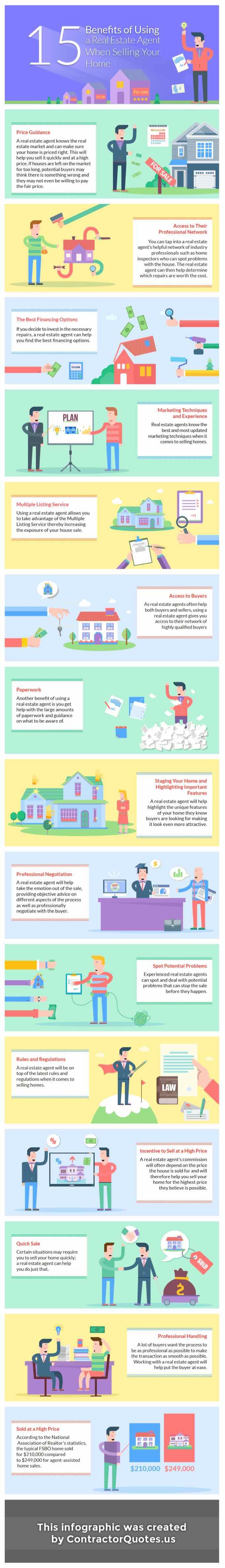 15 Benefits of Hiring A Listing Agent To Sell Your Home  (Infographic)