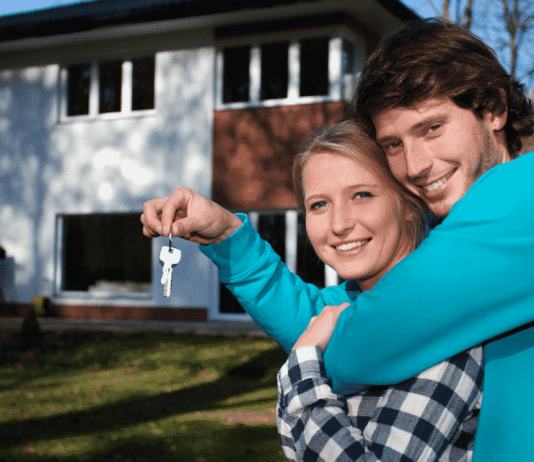 proud and happy first time home buyers