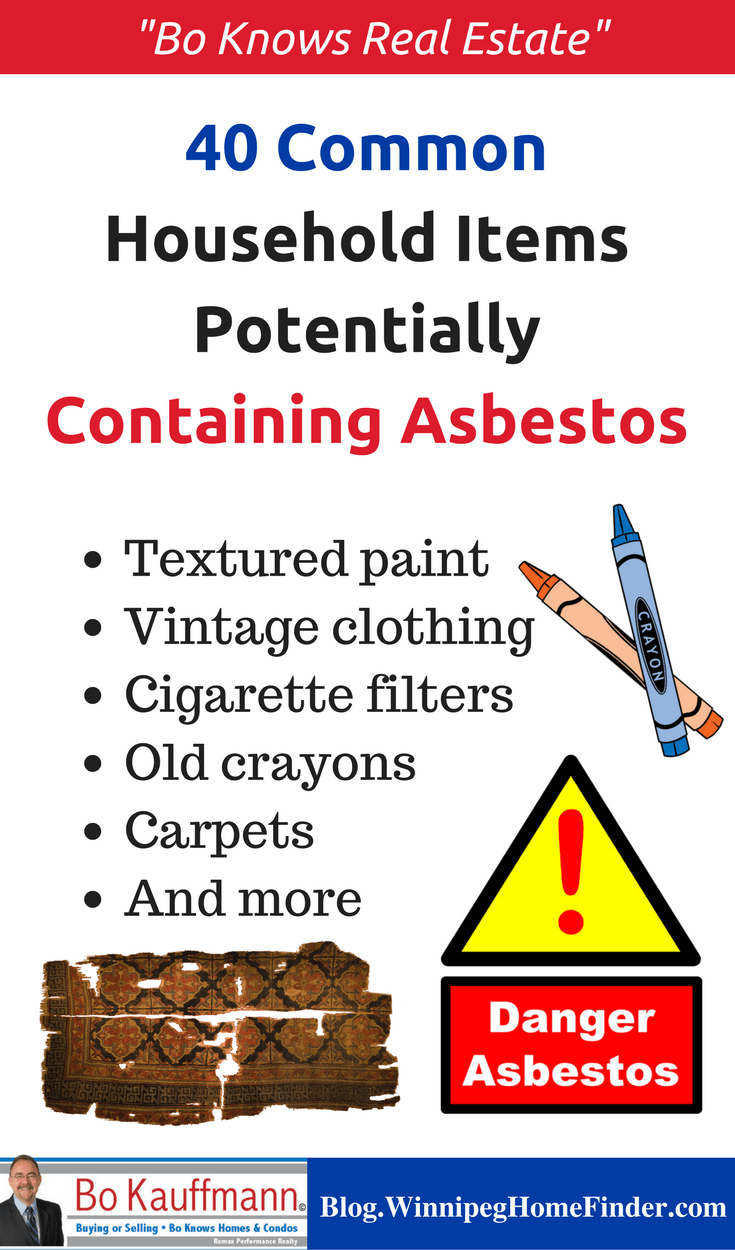 40 Common Household Items Potentially Containing Asbestos - Infographic
