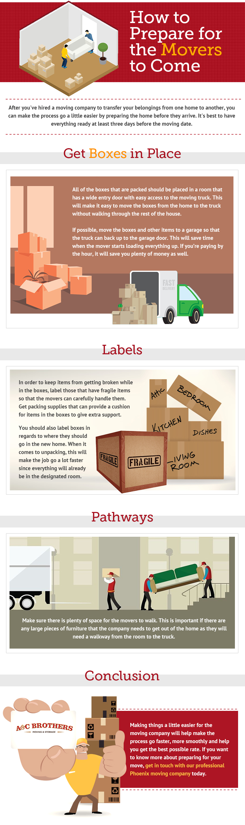 3 Simple Steps To Prepare Your Home For Movers Infographics Latest Posts  Heating System Infographic
