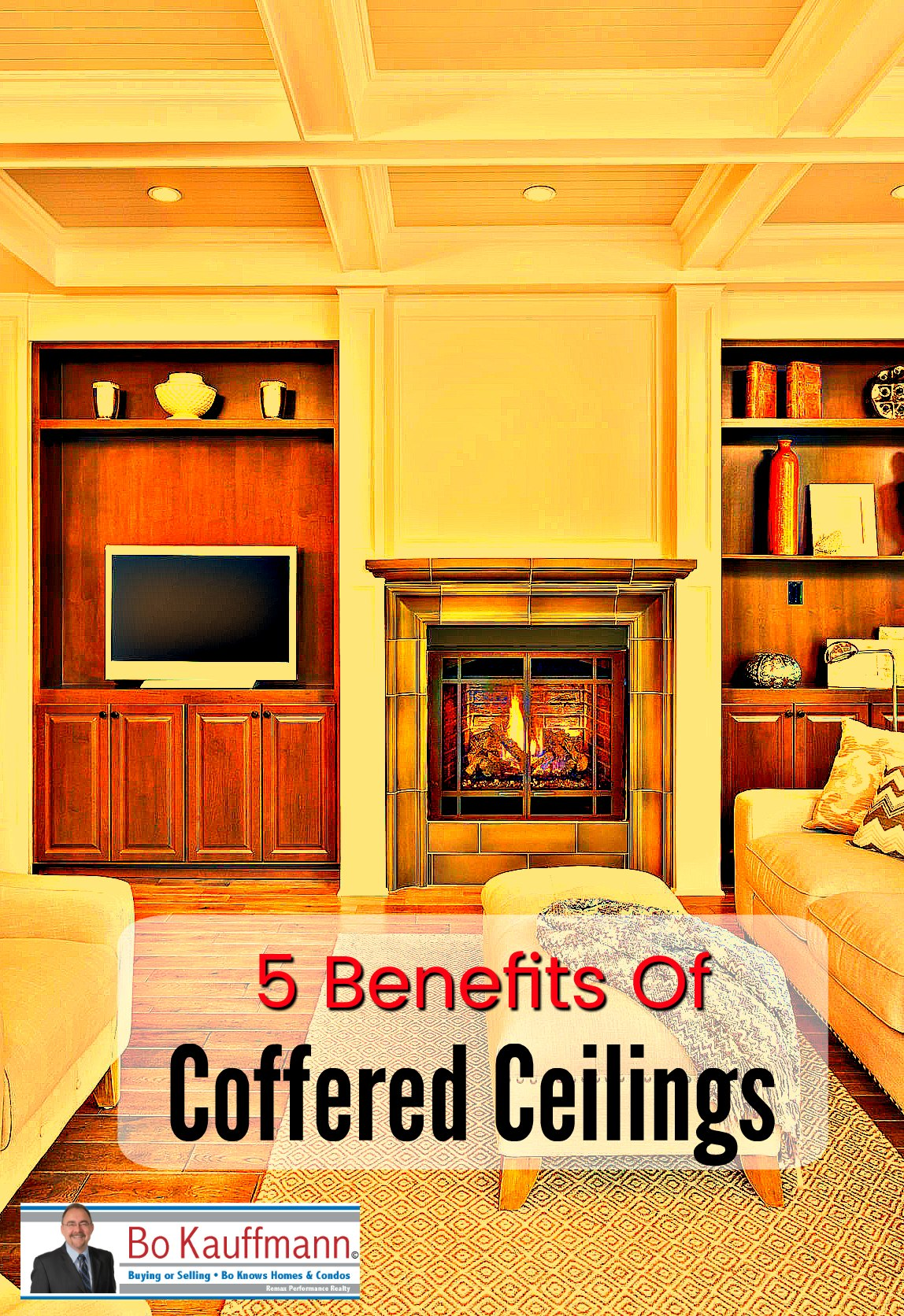 Coffered Ceilings - 5 Undeniable Benefits Of Installing Coffered Ceilings - Infographic