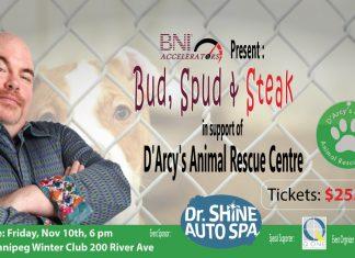 Bud Spud and Steak fundraiser for D'Arcys ARC