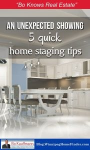 Quick-Staging Tips for those short-notice showings   Get your home 'show-ready' in minutes   Home Staging Tips   #HomeStaging #SellmyHome