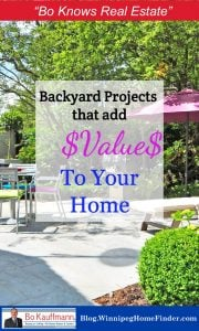 Backyard Renovation Projects | Add Value to your home with these backyard projects | Extend your home living space | #CurbAppeal #Backyard #Renovations #Oasis