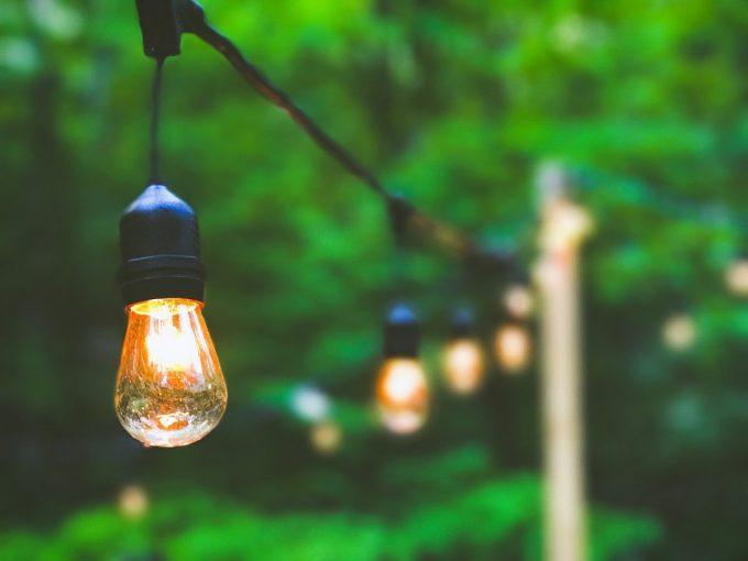 Backyard renovations with lights