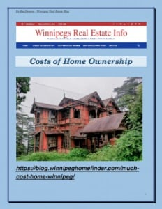 Home Ownership Costs In Winnipeg Latest Posts Winnipeg Home Buying News & Tips  Buying a House Condos Heating System Home Insurance Mortgage Lending Winnipeg