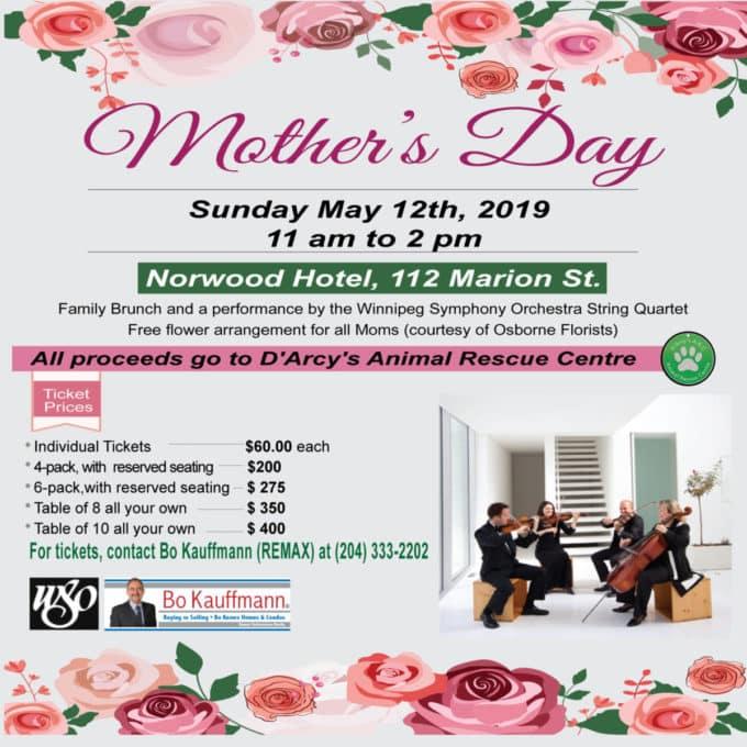 Mother's Day Brunch - Charity Fundraiser - WSO Latest Posts Winnipeg News & Events  Winnipeg Winter