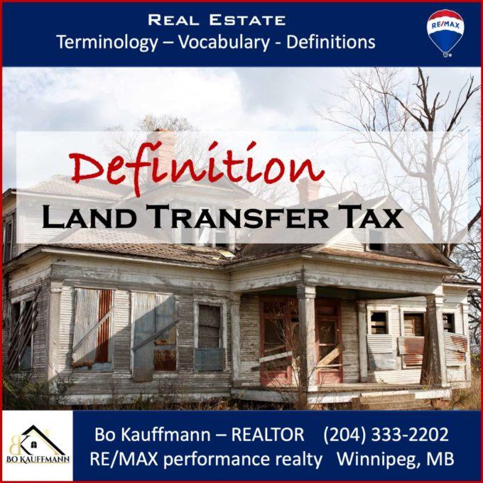 Land Titles Transfer Tax