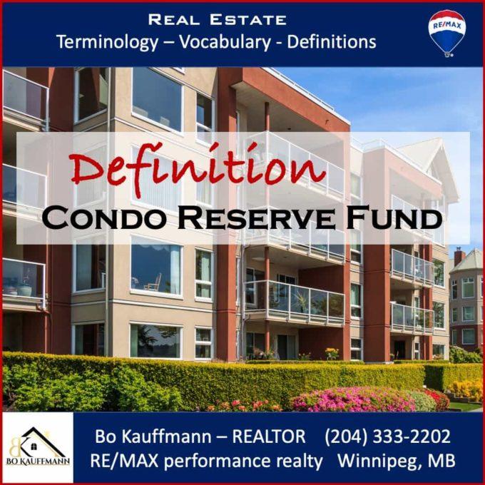 Condo Reserve Fund explained