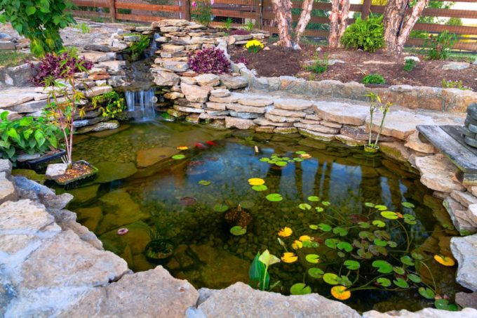 A koi pond is one of the interesting backyard upgrades